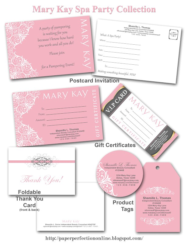mary kay spa party printables