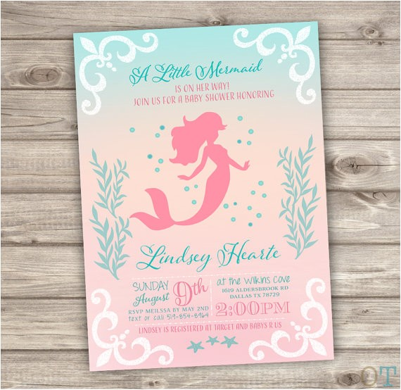 printable mermaid baby shower