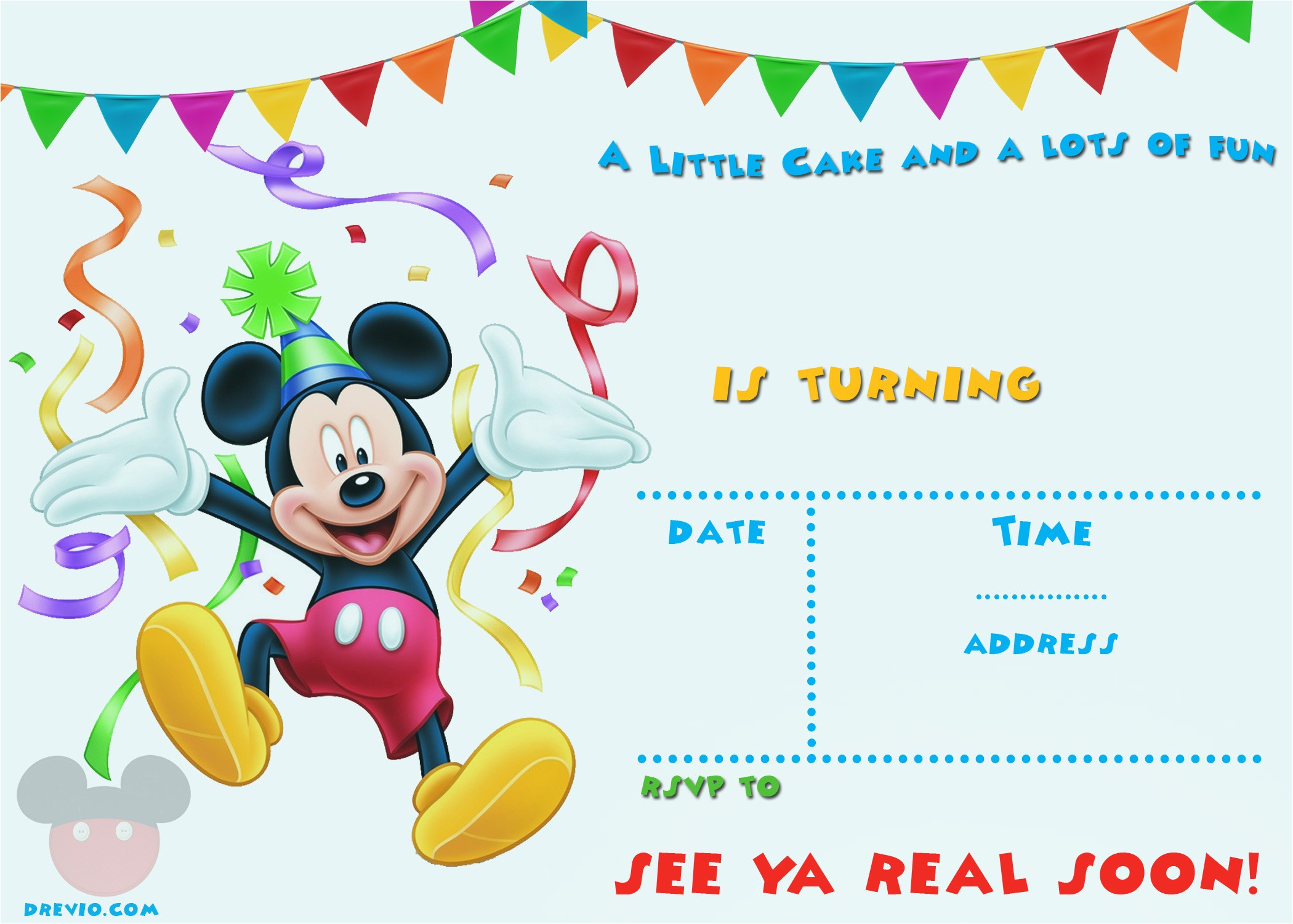 free mickey mouse 1st birthday invitations