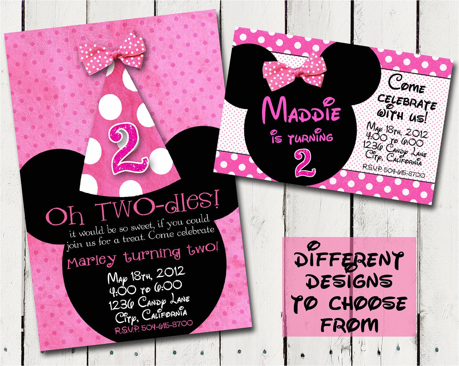 pink minnie mouse custom birthday