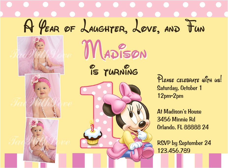 minnie mouse first 1st birthday
