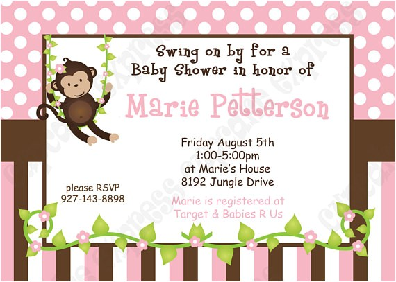 diy monkey baby girl baby shower