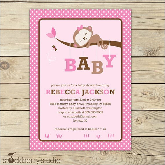 free printable its a girl baby shower invitation