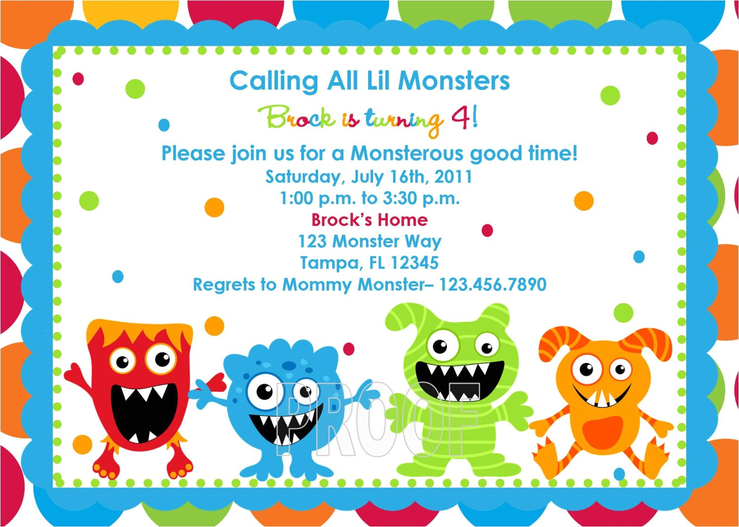 monster birthday party invitations ideas