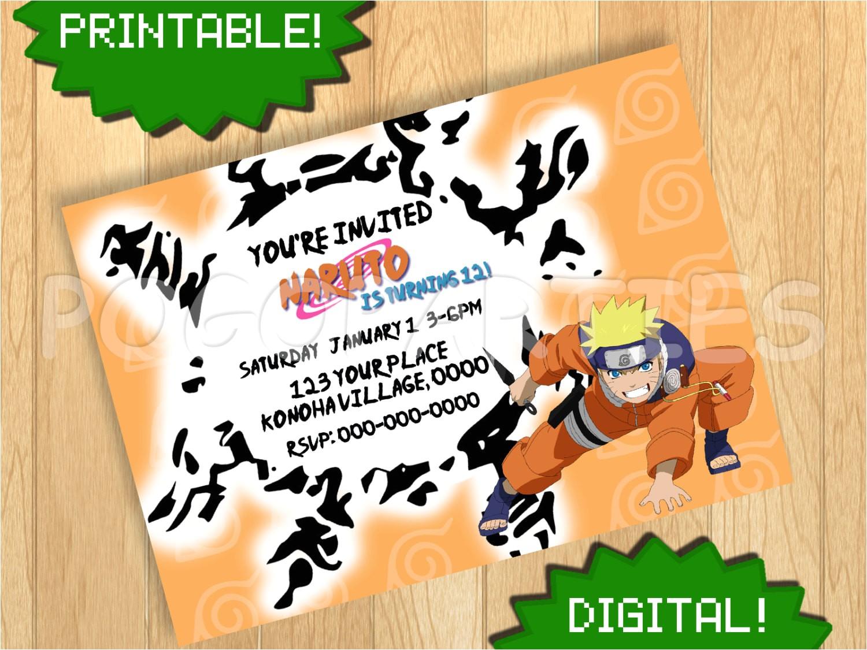 printable naruto uzumaki invitation