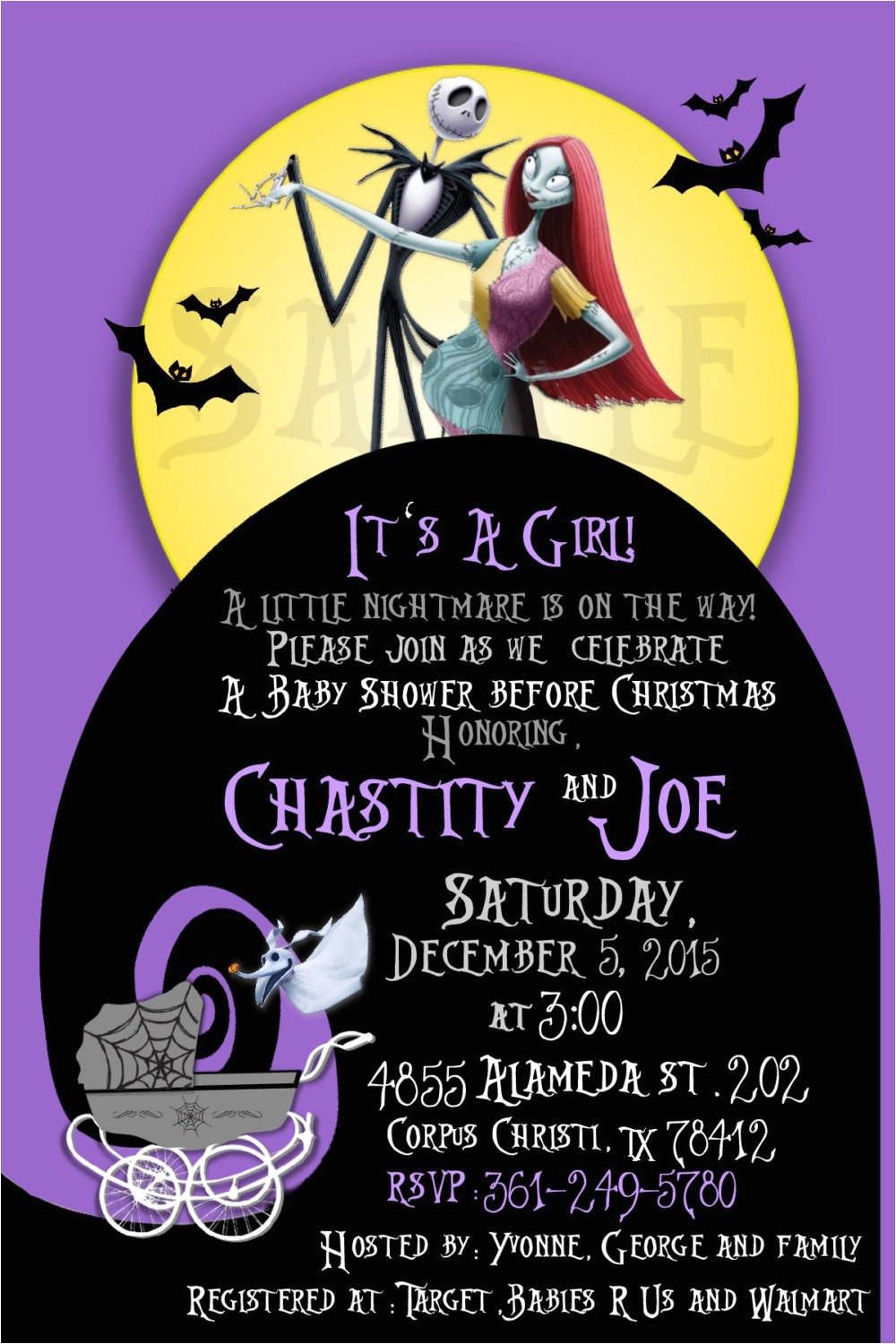 nightmare before christmas baby shower