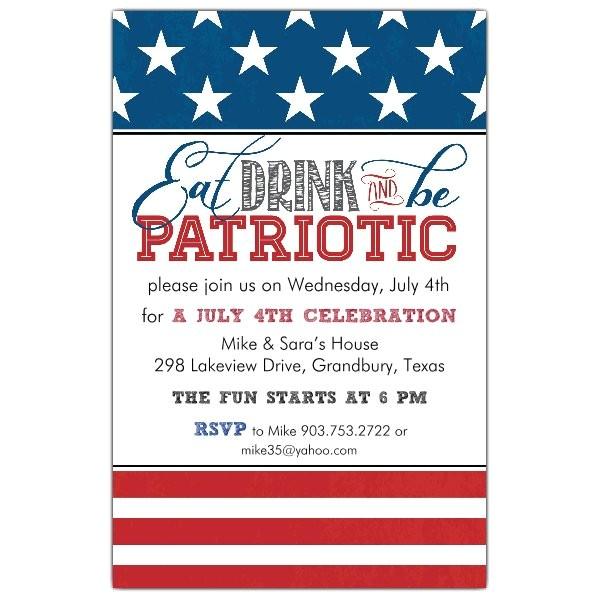 Be Patriotic Invitations p 622 58 0018