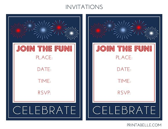 free patriotic party printables from printabelle