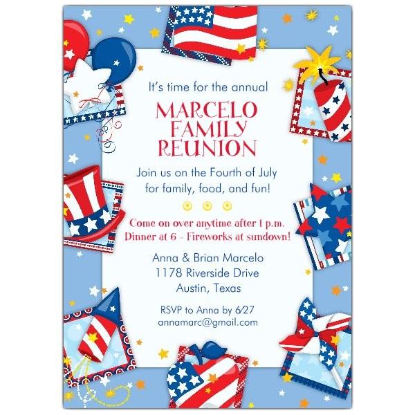Patriotic Party Invitations p 643 57 909