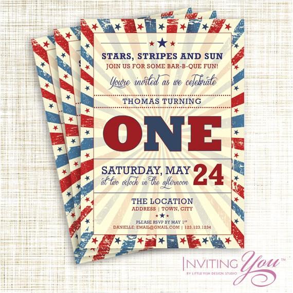 patriotic vintage memorial day or july