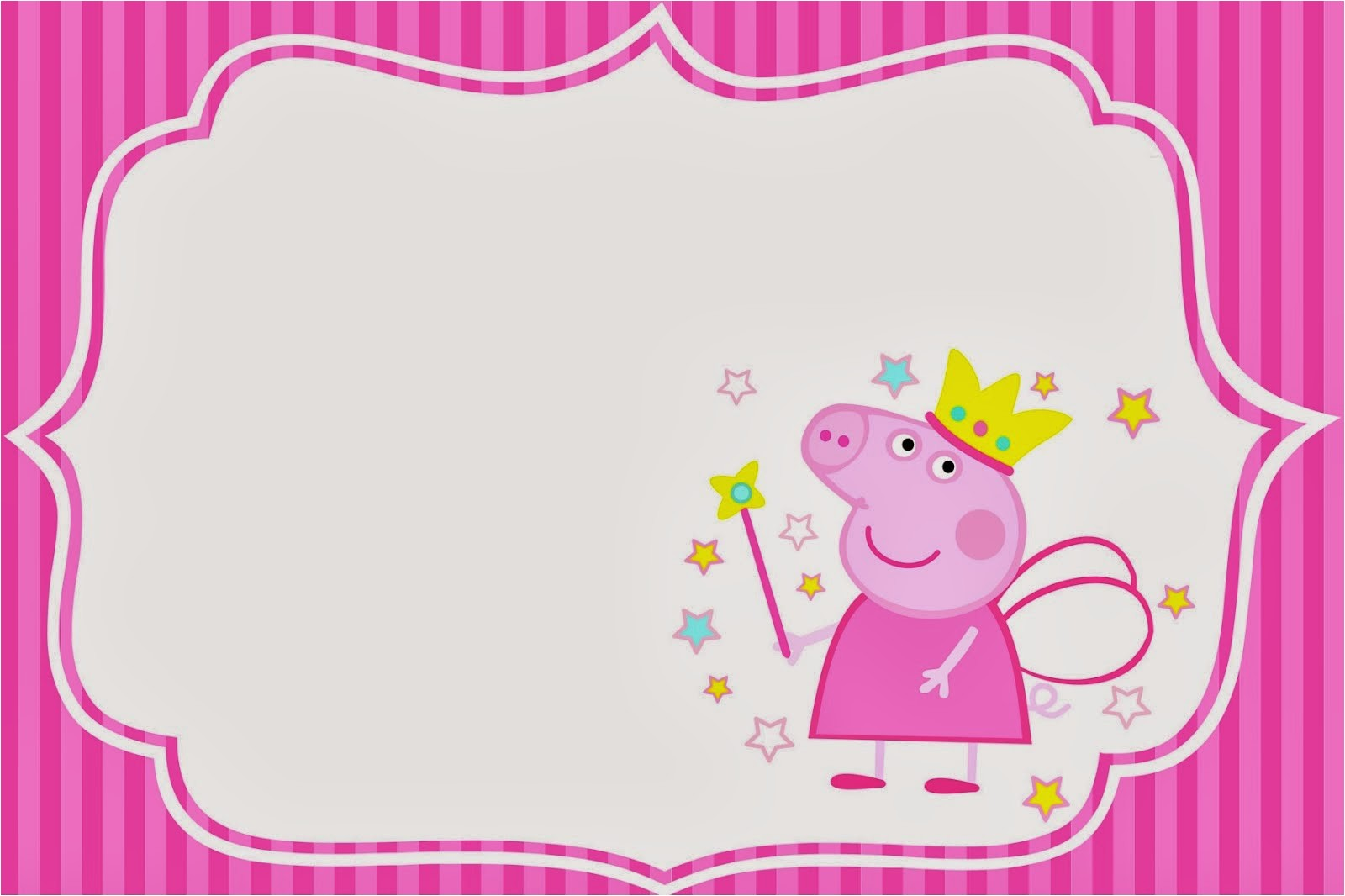 peppa pig fairy invitations and free