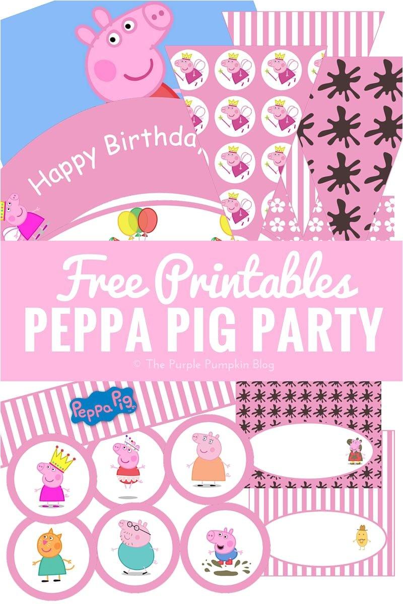 peppa pig party ideas free printables