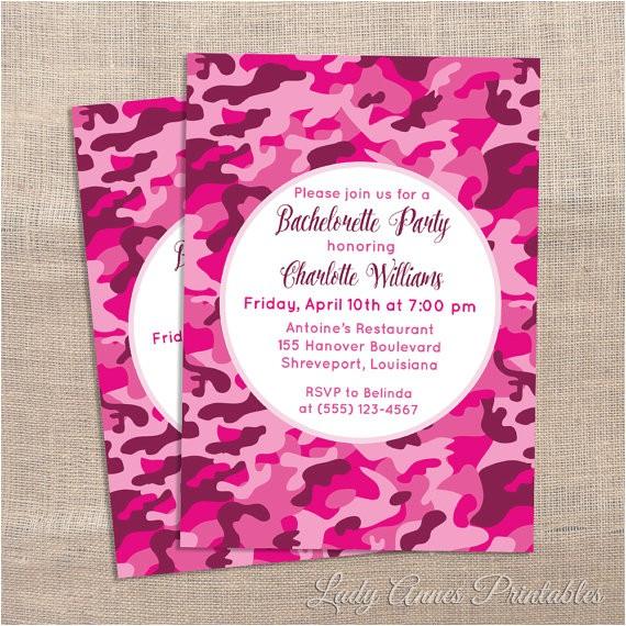 printable bachelorette party invitation