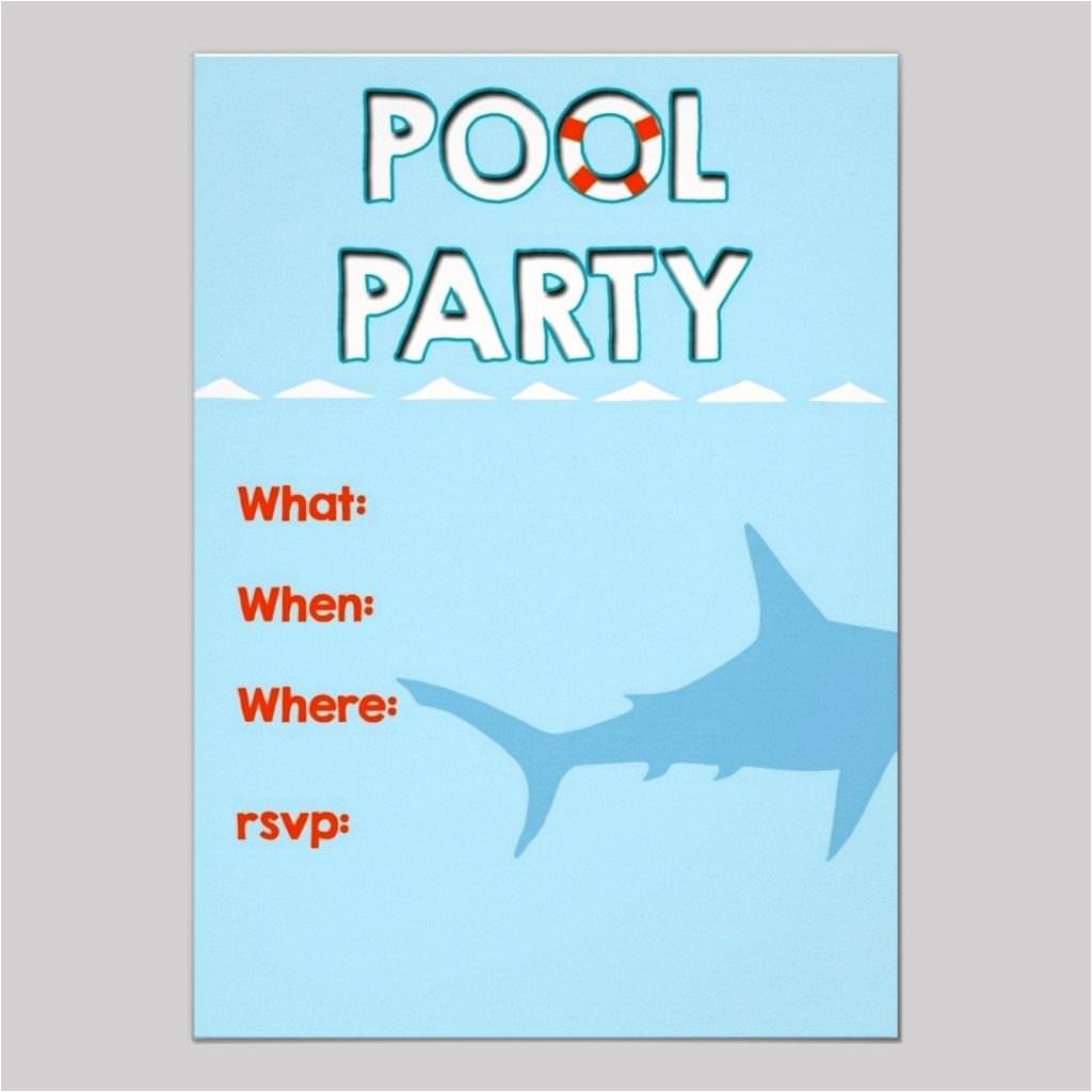 free pool party invitation templates