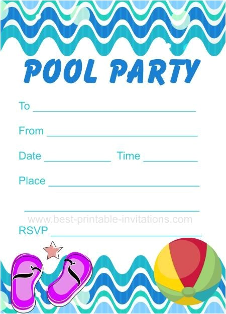 Free Printable Pool Party Birthday Invitations Pool Party Invitation Free Printable Party Invites From