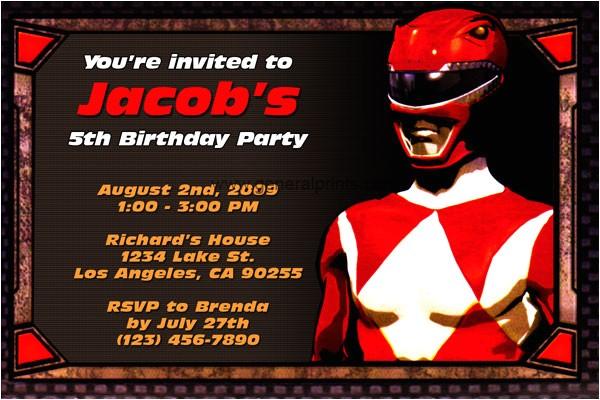 Free Printable Power Ranger Birthday Invitations First Birthday Party Invitations Boy Drevio Invitations