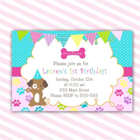 puppy birthday invitation printable