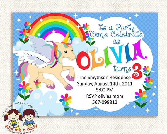 post free printable unicorn invitations