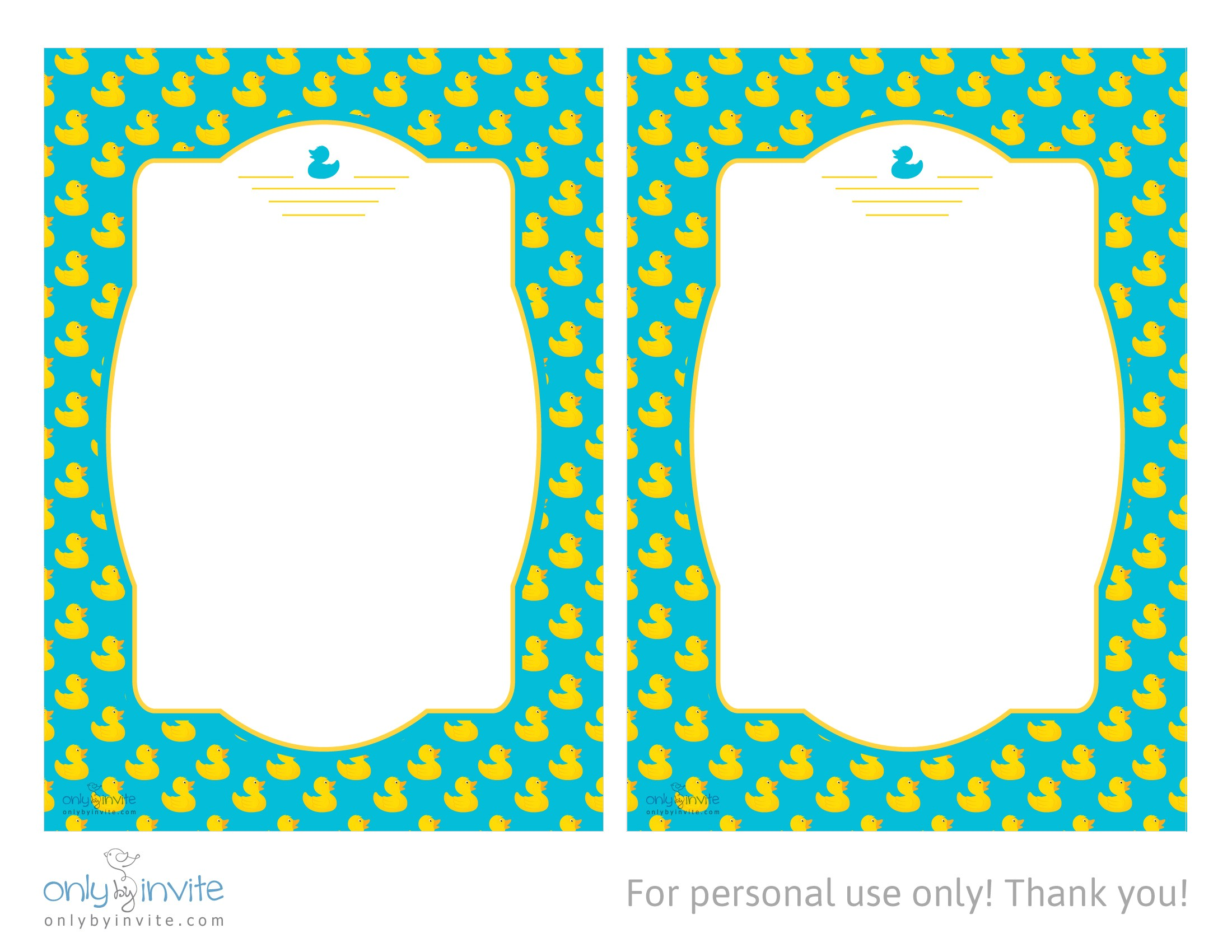 Free Printable Rubber Ducky Baby Shower Invitations Duck Baby Shower Invitations Template
