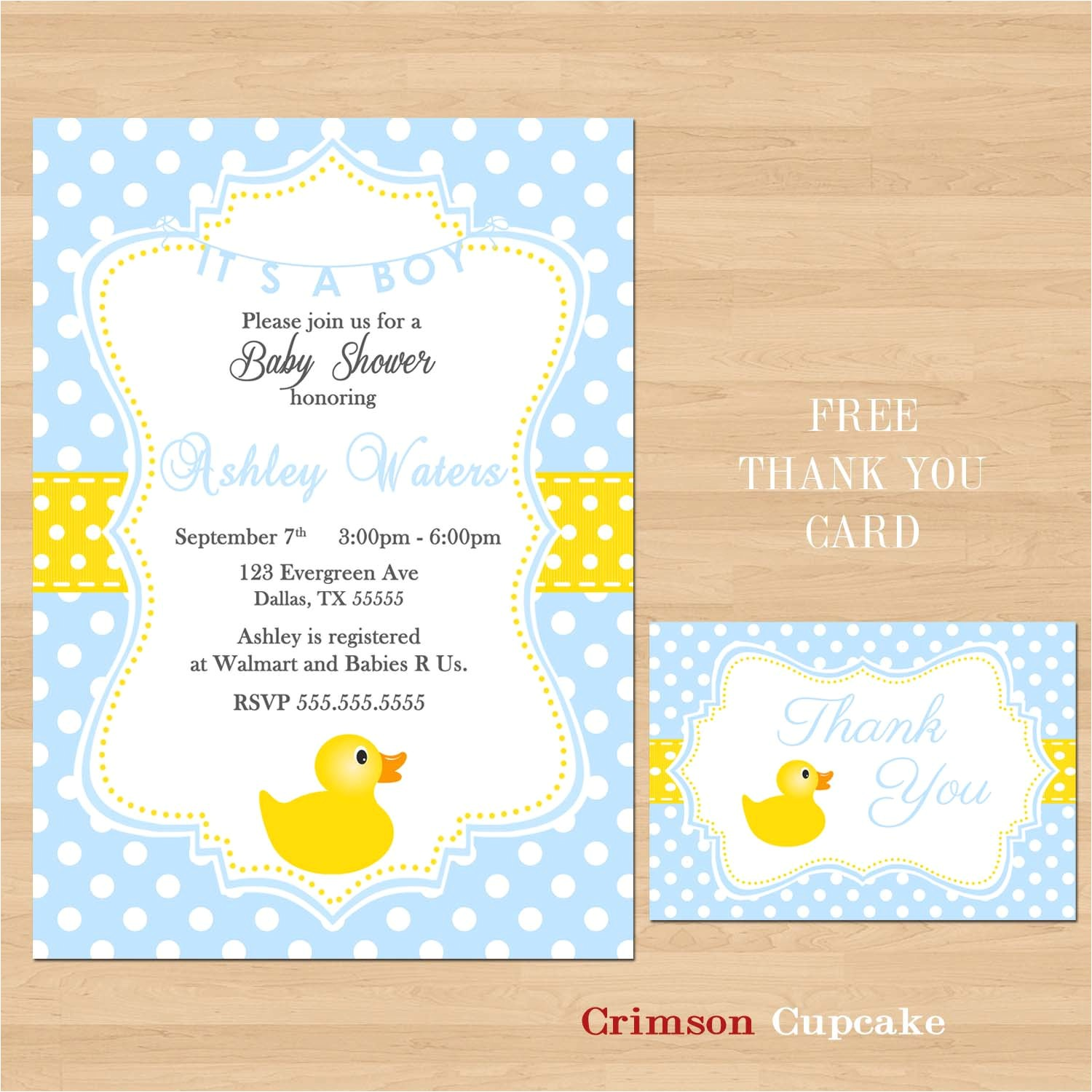 printable baby shower rubber ducky