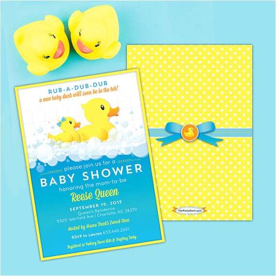 rubber ducky baby shower invitations printable 2