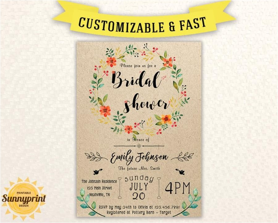 bridal shower invites bridal shower vintage bridal shower invitation printable printable bridal shower invitation template rustic