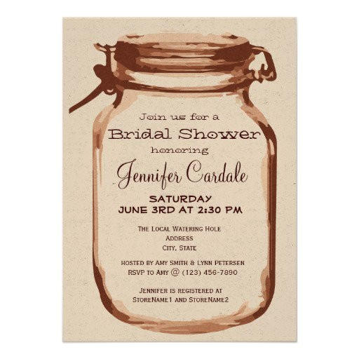 rustic wedding shower invitations templates
