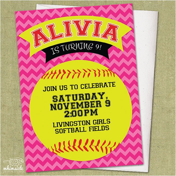 chevron softball invitation diy