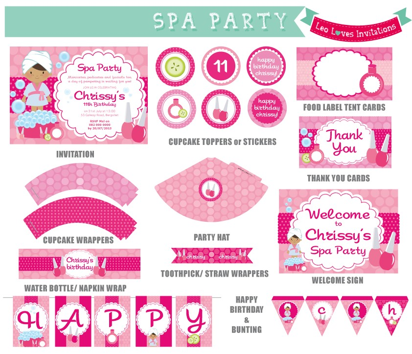 post spa party free printables 117725