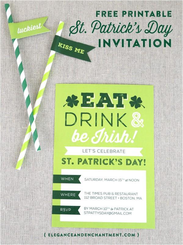 printable st patricks day party invitation