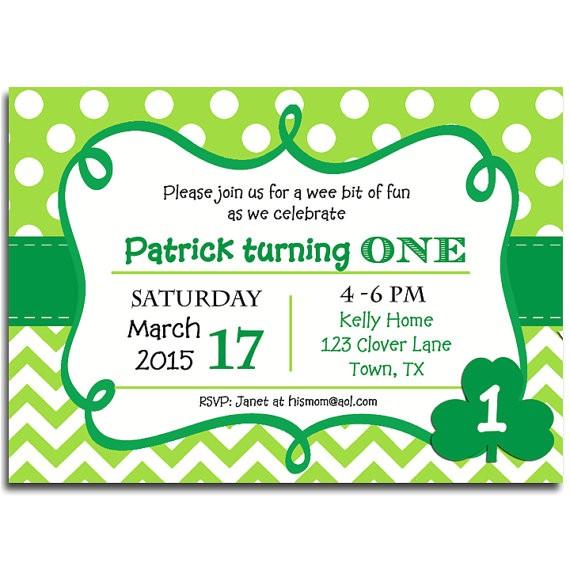 st patricks day invitation printable birthday 6