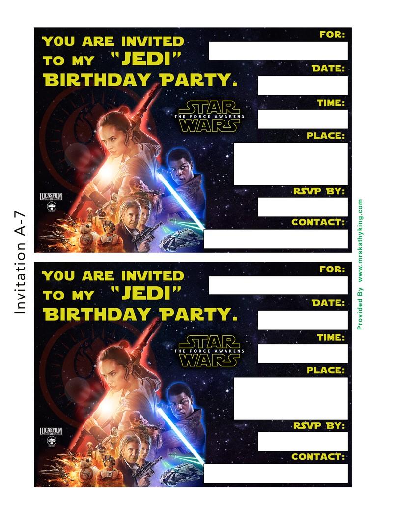 free star wars the force awakens invitation templates thelightside theforceawakens starwars