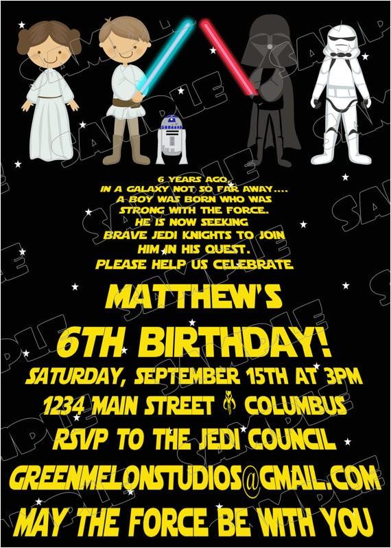star wars scroll jedi birthday party
