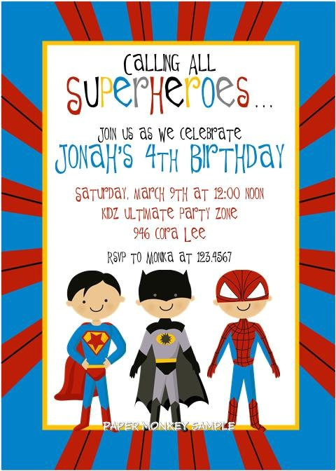 post marvel super hero invitations free printable 148835