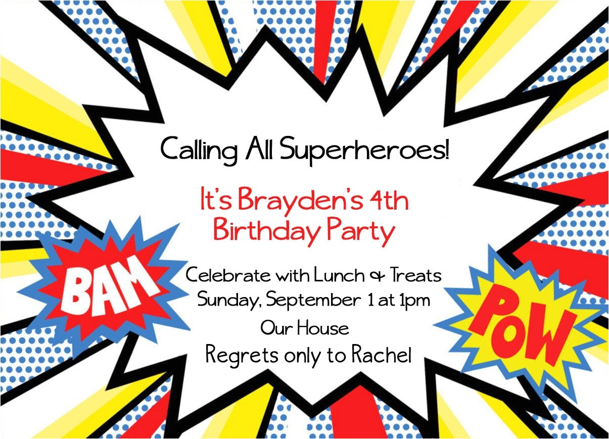 free superhero party invitations template