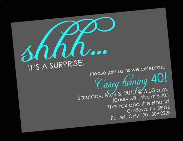Free Printable Surprise Birthday Party Invitations Templates 26 Surprise Birthday Invitation Templates Free Sample
