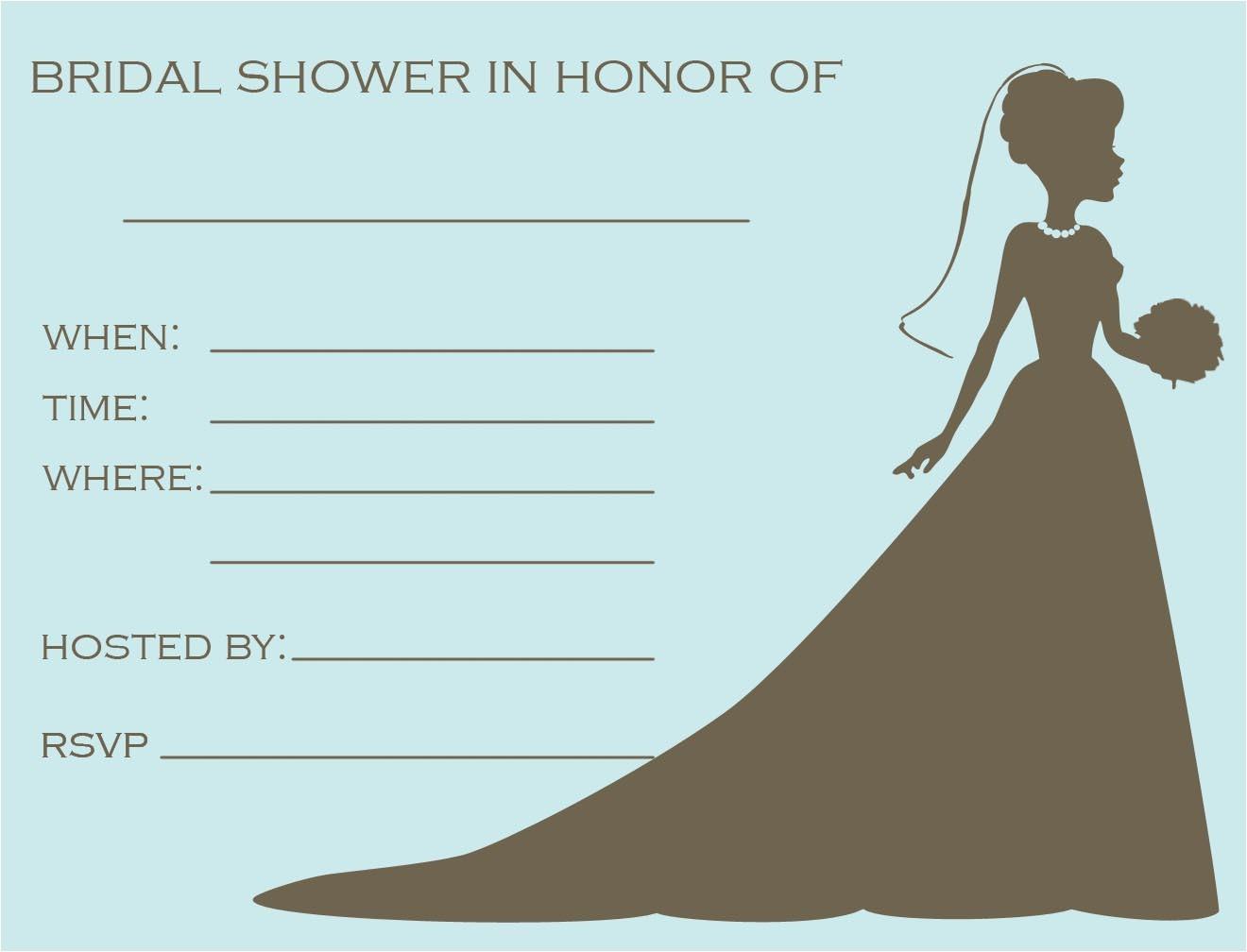 free bridal shower flyer templates