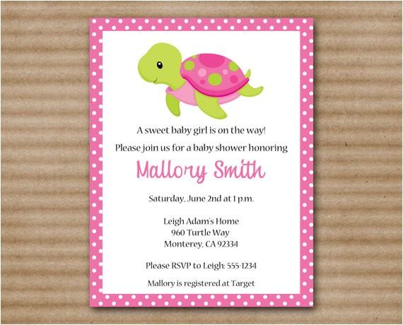 printable sea turtle baby shower
