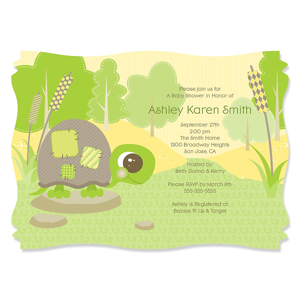 turtle baby shower invitations