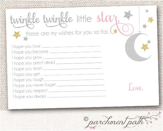 Free Printable Twinkle Twinkle Little Star Baby Shower Invitations Instant Download Twinkle Twinkle Little Star Baby Wishes