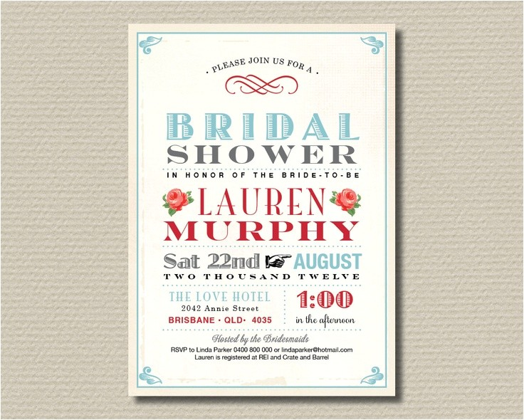 free printable vintage bridal shower