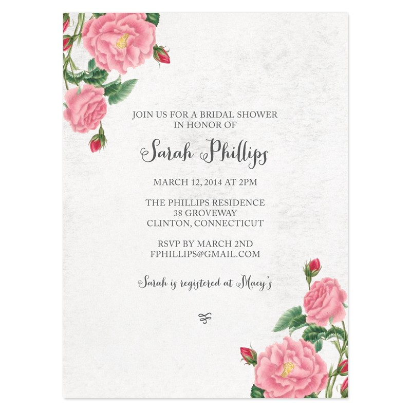 bridal shower invitations free vintage bridal shower invitations