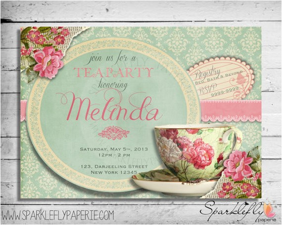 vintage tea cup bridal shower baby