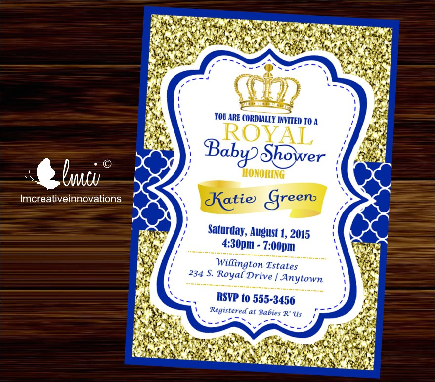royal baby shower invitation little