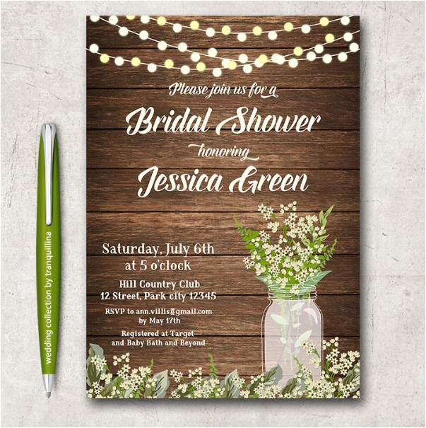 Free Rustic Bridal Shower Invitation Templates 14 Printable Bridal Shower Invitations Examples