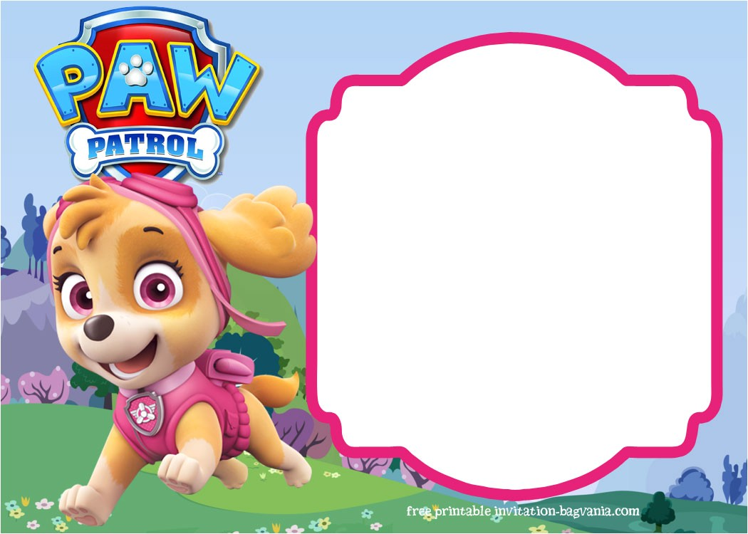 paw patrol birthday invitation template most plete