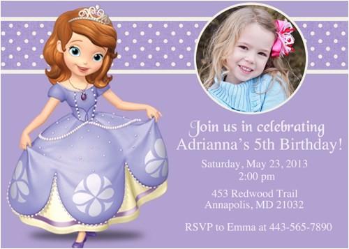 princess sofia birthday invitations ideas