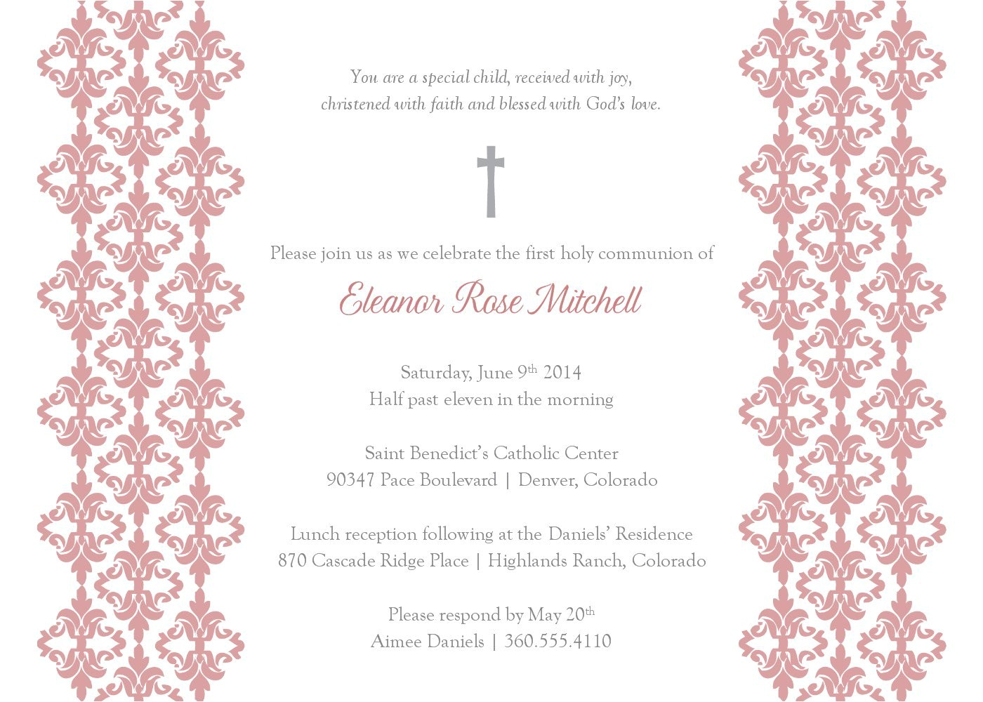 baptism invitation blank templates for boy