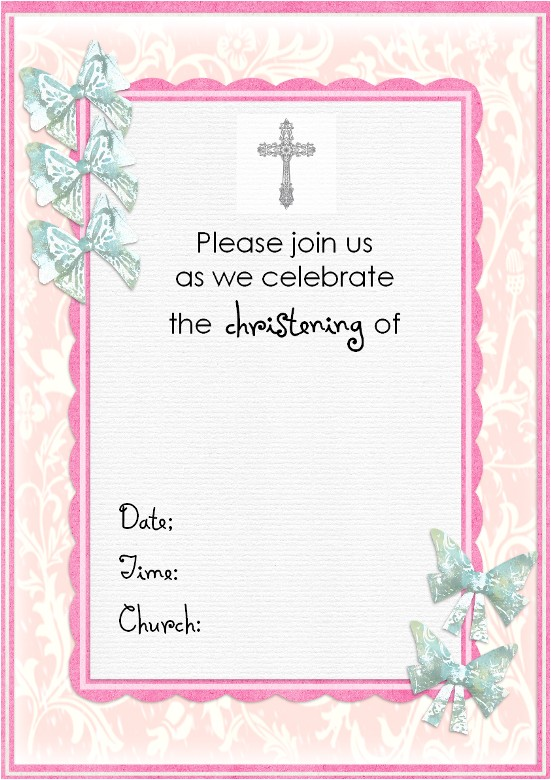christening invitation cards new project