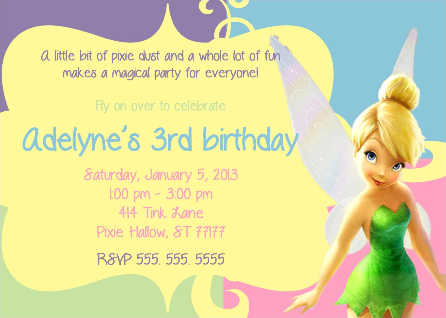 post tinkerbell party invitations free printable 303865